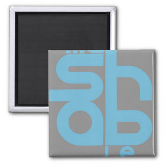 Mashable 2 Inch Square Magnet