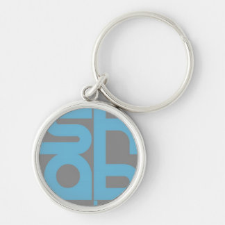 Mashable Silver-Colored Round Keychain