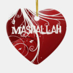 Mashallah islamic red ornament