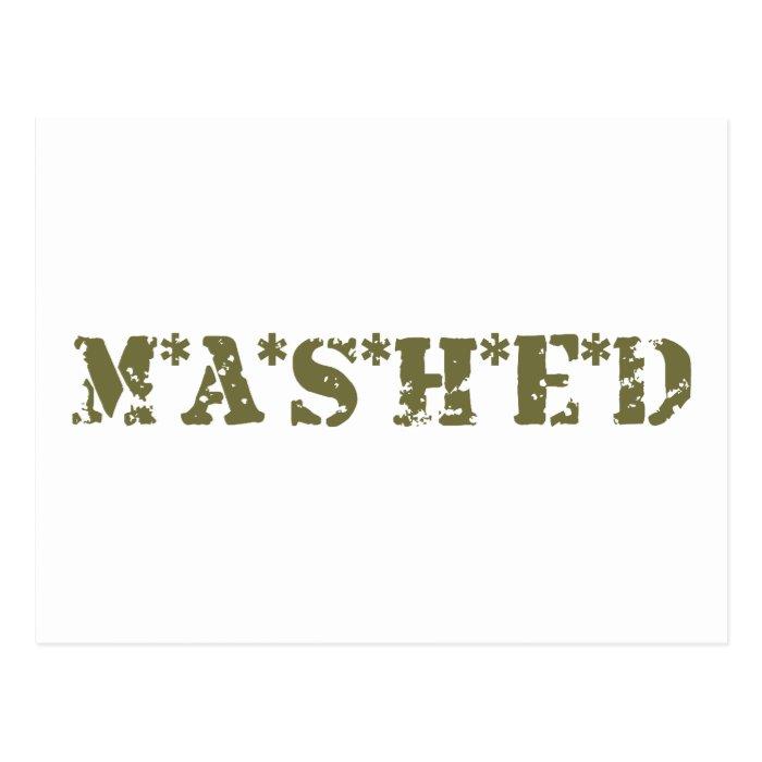 MASHED POSTCARD