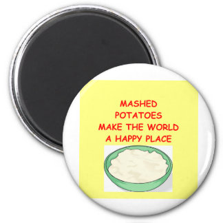 mashed potatoes 2 inch round magnet
