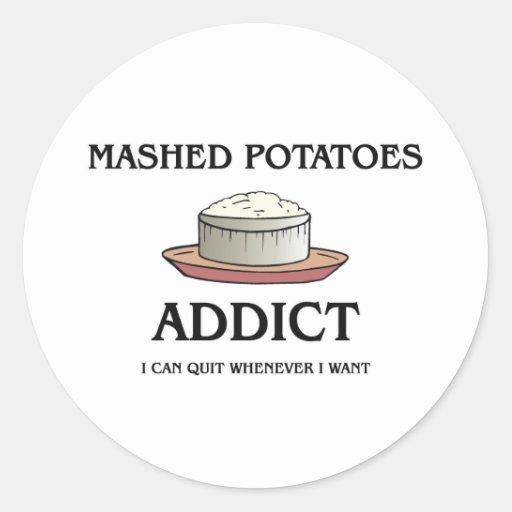 Mashed Potatoes Addict Round Sticker