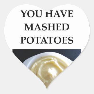 MASHED potatoes Heart Sticker