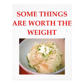 mashed potatoes letterhead