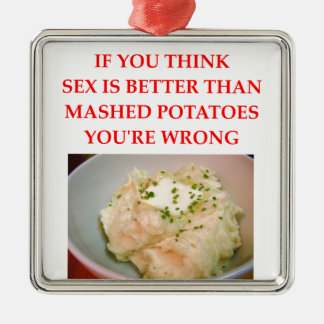 mashed potatoes metal ornament