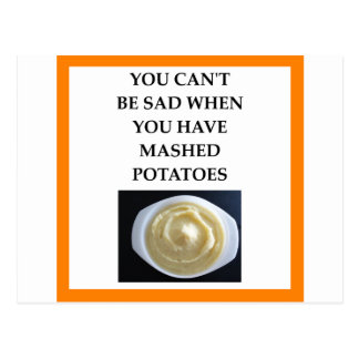 MASHED potatoes Postcard