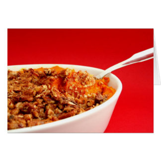 Mashed Sweet Potatoes with Pecan Streusel Cards