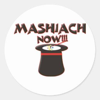 Mashiach ahora pegatina redonda