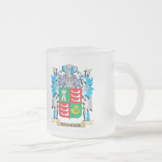 Mashiach Coat of Arms - Family Crest 10 Oz Frosted Glass Coffee Mug