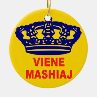 mashiaj del viene adorno navideño redondo de cerámica