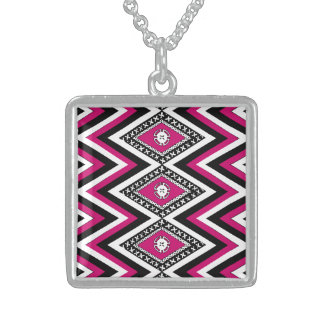Masi Diamond in Pink Sterling Silver Necklace