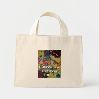 MASK2, CUBISM as in CAT-ISMs RULE!!!! Mini Tote Bag