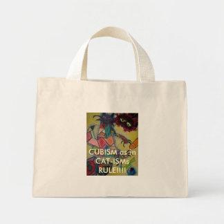 MASK2, CUBISM as in CAT-ISMs RULE!!!! Mini Tote Bag