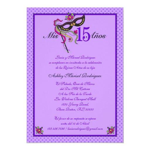 Mask 15 Quinceañera Invitation | Zazzle