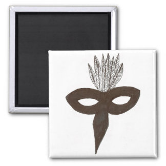 Mask 2 Inch Square Magnet