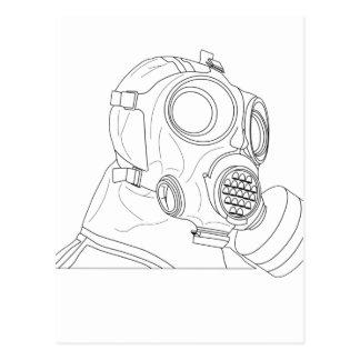 Mask black postcard