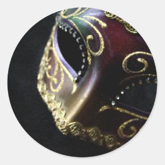 Mask Classic Round Sticker