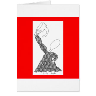 mask contemplate card