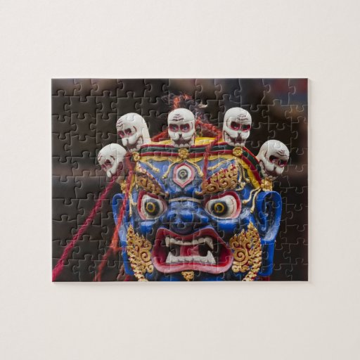 Mask dance performance at Tshechu Festival 2 Jigsaw Puzzles