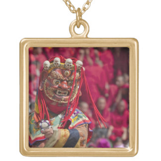 Mask dance performance at Tshechu Festival 3 Gold Plated Necklace