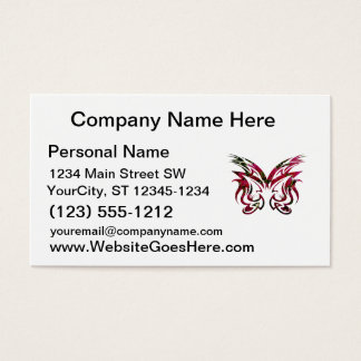 Mask Design 1 bougie butterfly shape Business Card
