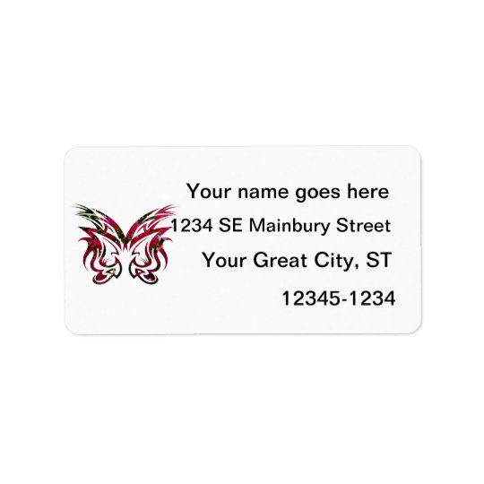Mask Design 1 bougie butterfly shape Label