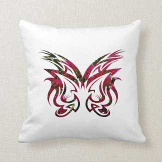 Mask Design 1 bougie butterfly shape Throw Pillow