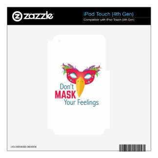 Mask Feelings iPod Touch 4G Decal