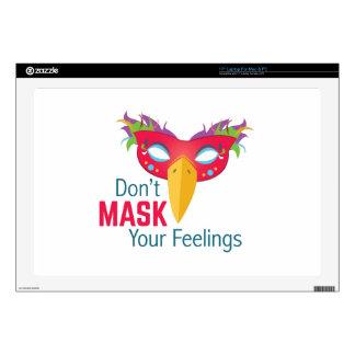 Mask Feelings Laptop Skin