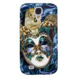 Mask gold blue Venetian masquerade Samsung Galaxy S4 Case