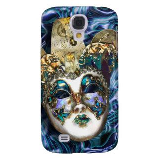 Mask gold blue Venetian masquerade Samsung S4 Case