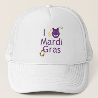 Mask I Love Mardi Gras Trucker Hat