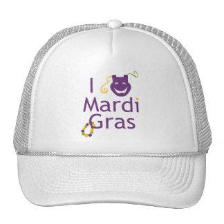 Mask I Love Mardi Gras Trucker Hat