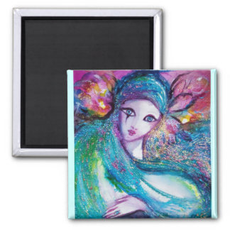 MASK IN BLUE 2 INCH SQUARE MAGNET