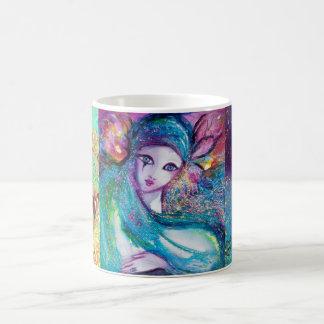 MASK IN BLUE / Venetian Masquerade Masks Coffee Mug