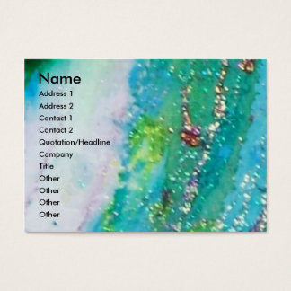 MASK IN BLUE / Venetian Masquerade ,Teal Business Card