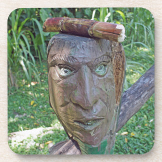 mask in the jungle drink coaster