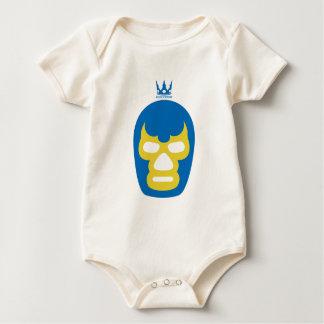 Mask mask (blue) baby bodysuit