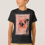Mask Masquerade Peach Black Vintage Sheet Music T-Shirt