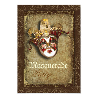 Mask masquerade venetian mardi gras party card