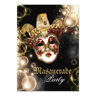 Mask masquerade venetian mardi gras party 5x7 paper invitation card