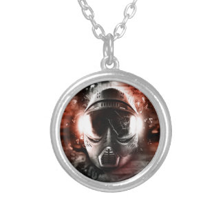Mask of Action Paintball M-2 Round Pendant Necklace