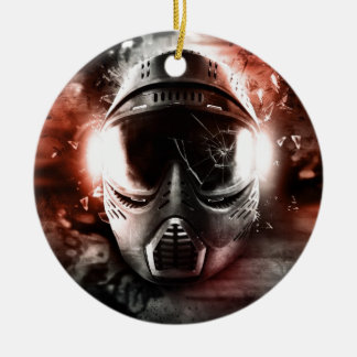 Mask of Action Paintball M-2 Double-Sided Ceramic Round Christmas Ornament