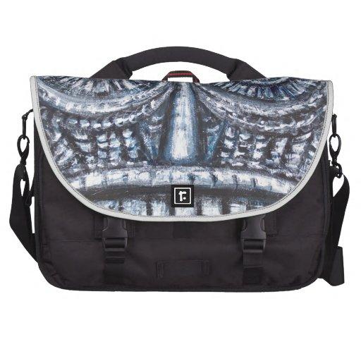 Mask of Ancient God (Surrealism, Outsider Art ) Laptop Bags