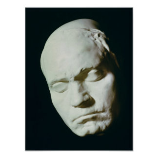 Mask of Beethoven,taken from life at the age of Poster
