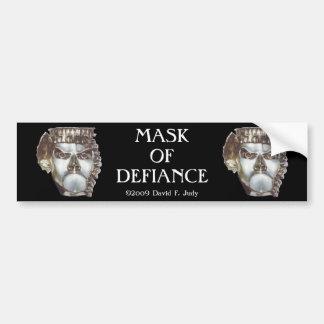 MASK OF DEFIANCE bumper sticker Car Bumper Sticker