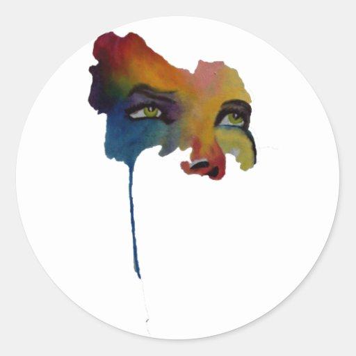 Mask of tears sticker