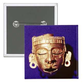 Mask of the god Xipe Totec Button