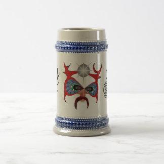 Mask Of The Horned God 18 Oz Beer Stein
