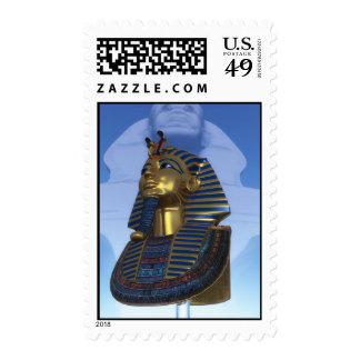 Mask of the pharaoh stamp